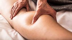 Person getting deep tissue massage
