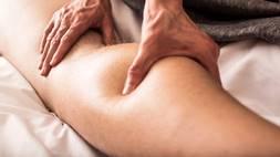 Person getting deep tissue massage